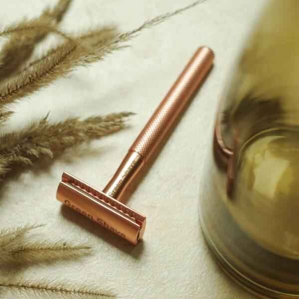 Rose gold biztonsági borotva